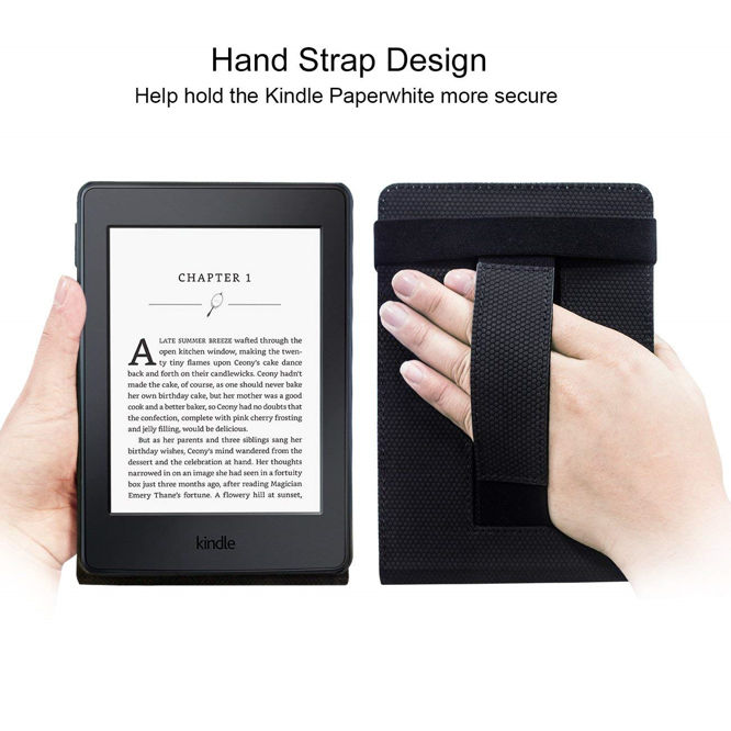 WALNEW Stand Cover for Kindle Paperwhite with Hand Strap