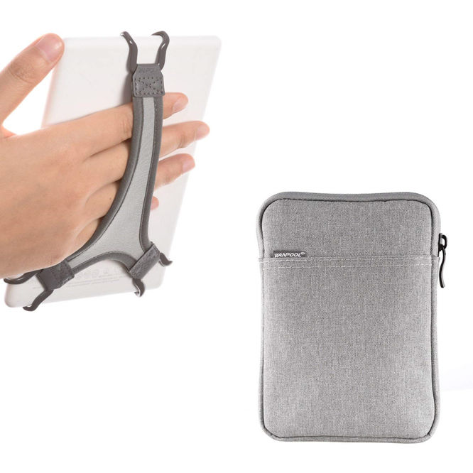 TFY Hand Strap Holder Finger Grip with PU for Kindle Paperwhite E-readers 6 inch