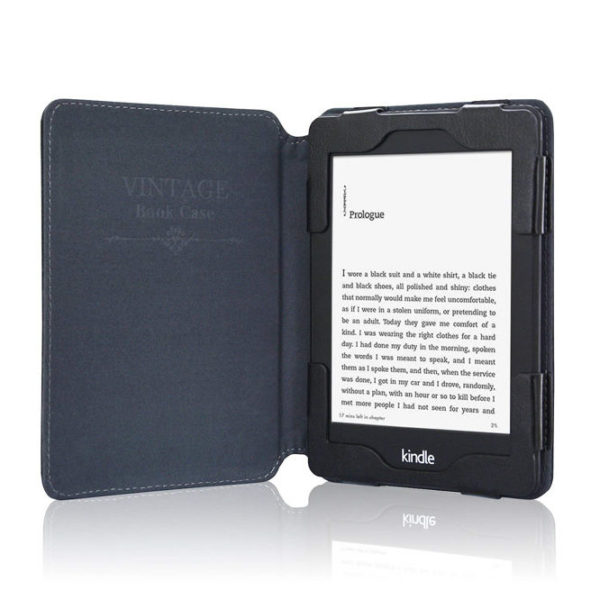ACCase Folio Smart Cover Leather Case-Black Color