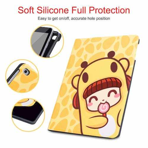 Durable Magnetic Leather Cute iPad 9.7 Case (Lollypop)